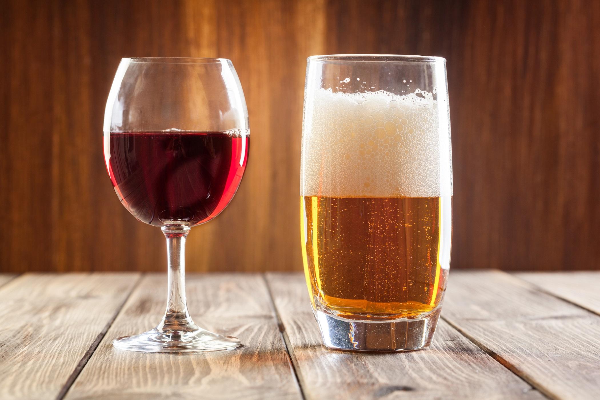 Øl eller rødvin?